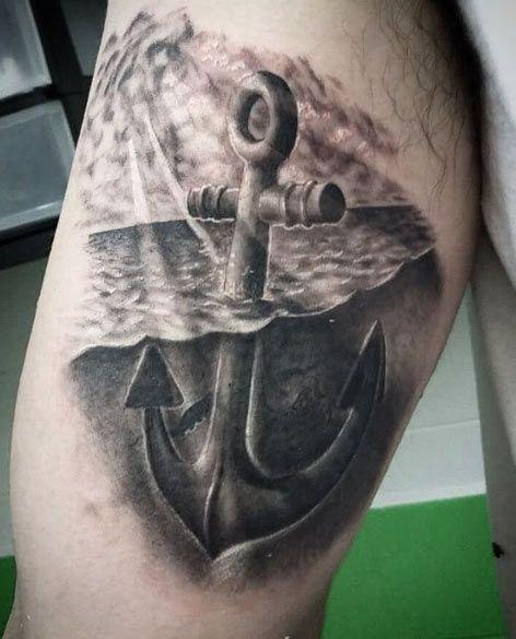 Anchor Tattoo Design by Hakro Jones
