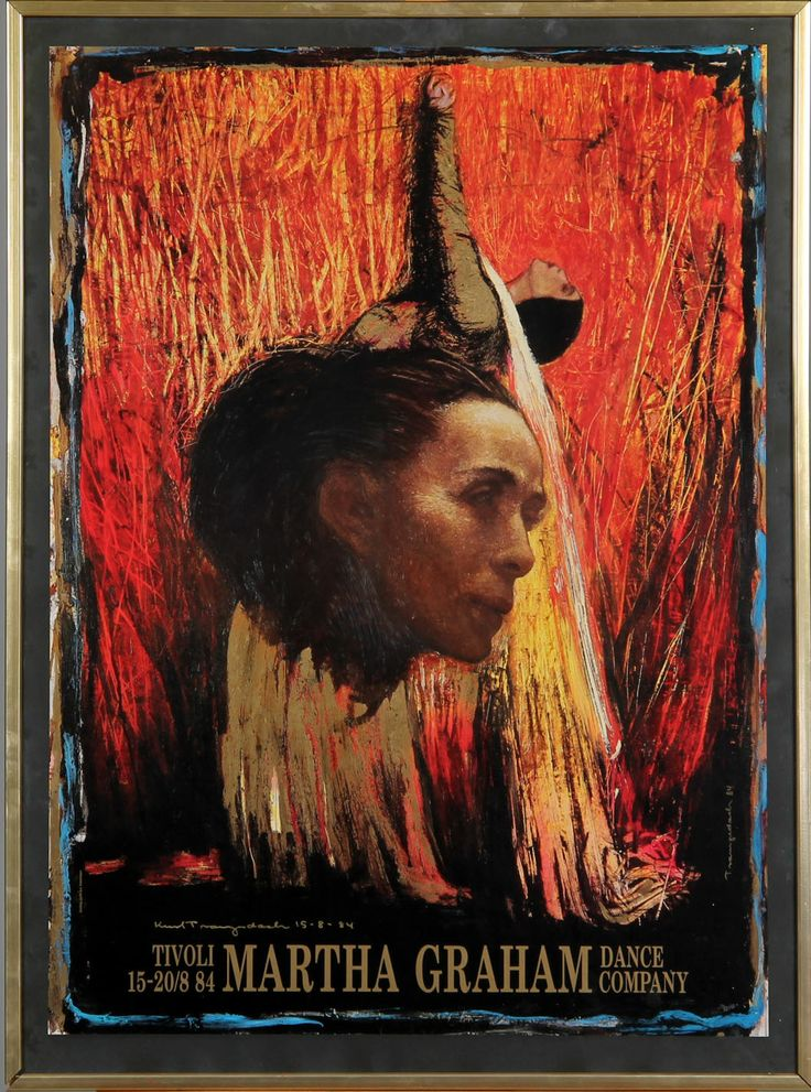 Kurt H. Trampedach: Title : Martha Graham  Date : 1984 Category : Paintings Oil and mixed media on paper laid down on canvas