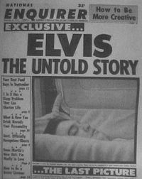 Elvis Presley's body was embalmed then dressed in a pale blue shirt, white silk tie and white suit. Placed in a copper-platted open lid ca...