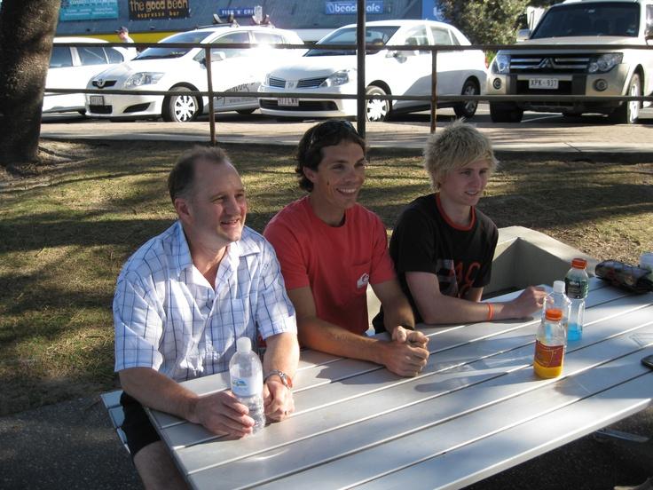 Chris Vermeulen, Brad Shaw and Daryl Shaw 2011