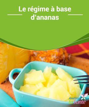Le régime à base #d'ananas  Le #régime à l'ananas est idéal pour perdre du #poids, mais il ne doit pas être prolongé pour ne pas générer des carences #nutritionnelles. Il faudra faire 3 repas par jour et associer cet aliment à de la protéine animale maigre.