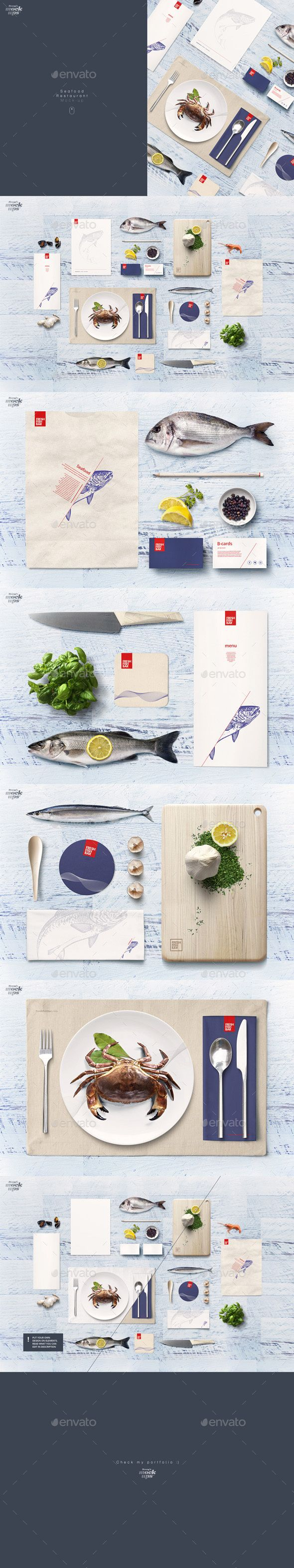 Fish & Seafood Restaurant Identity Mockup. Download here: http://graphicriver.net/item/fish-seafood-restaurant-identity-mockup/16525204?ref=ksioks
