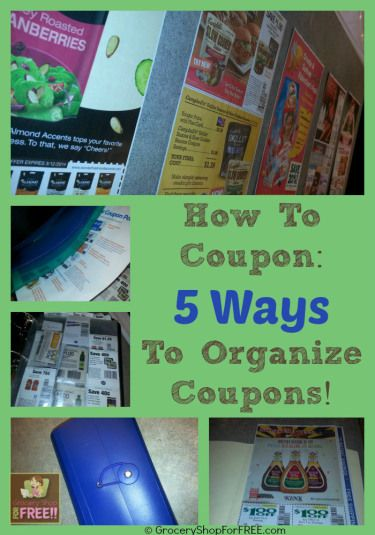 How To Coupon:  5 Ways To Organize Coupons!