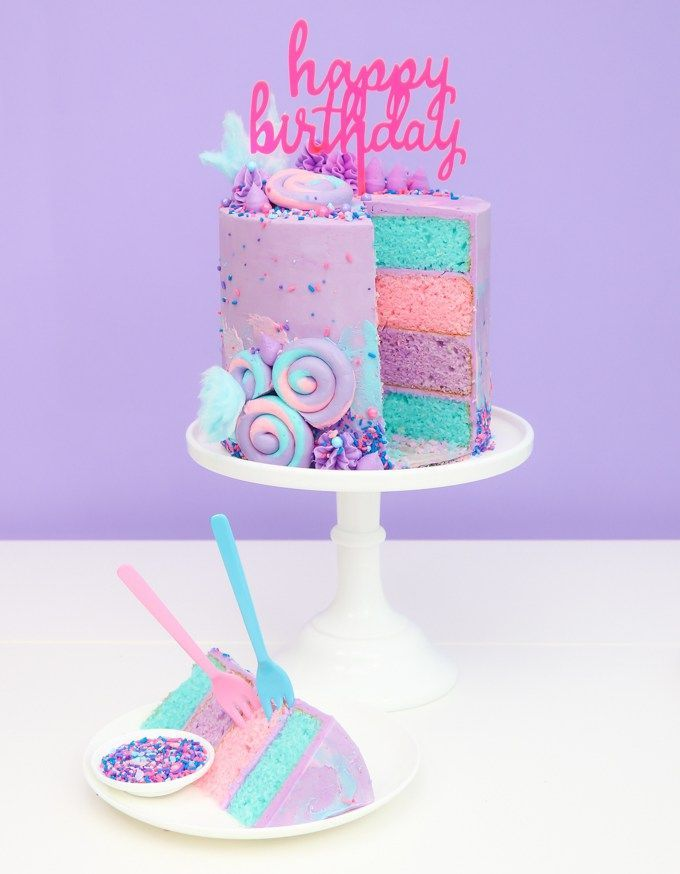 Incredible Cotton Candy Swiss Meringue Buttercream For Cotton Candy Cake Funny Birthday Cards Online Hendilapandamsfinfo