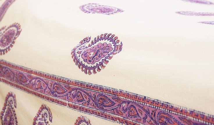 Paisley Sheets - Designer Sheets - Hand Block Printed from Attiser