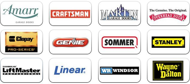 We sale repair and install the finest garage door brands that available in the market; Wayne Dalton garage doors Amarr garage doors Clopay garage doors Hormann Gadco garage doors CHI garage doors Garaga garage doors Martin garage doors Sears garage doors Liftmaster garage door openers Craftsman garage door opener Genie garage doors Linear garage door opener Chamberlain garage door openers Power Master motors