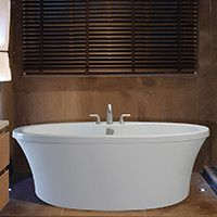 """Reliance Whirlpools Center Drain Freestanding 66"""" x 36.75"""" Soaking Tub with Deck for Faucet & Reviews 