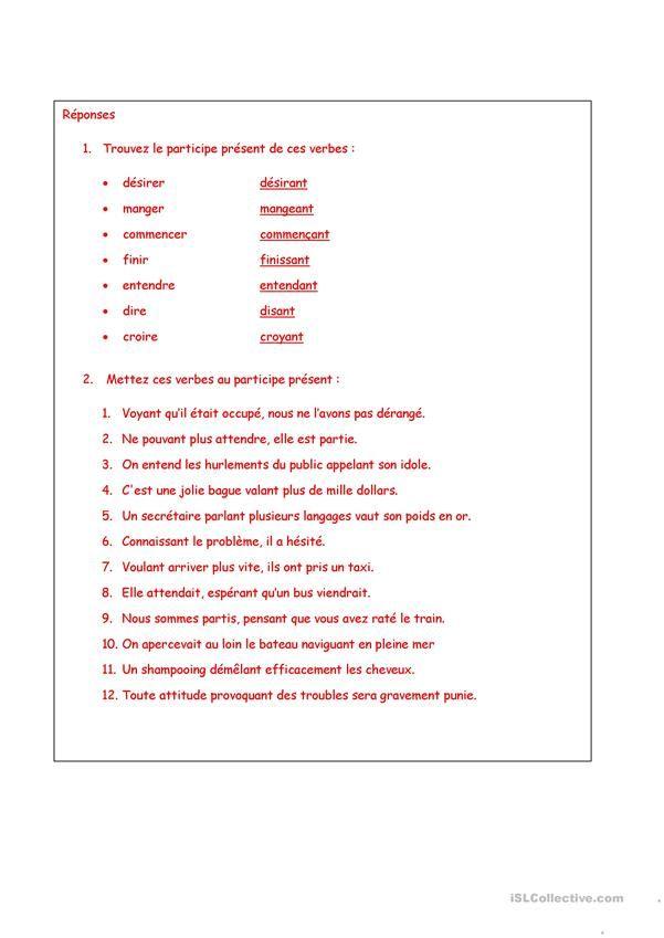Participe Present