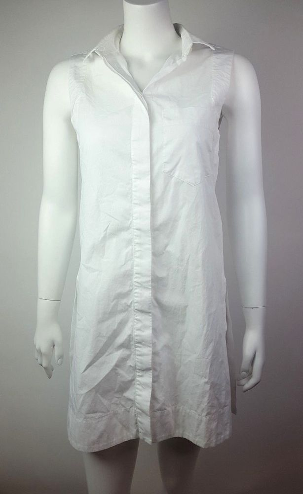 a42e5b547 MAEVE Anthropologie Solid White Button Down Sleeveless Tunic Top Womens  Size 4 | Clothing, Shoes & Accessories, Women's Clothing, Tops & Blouses |  eBay!