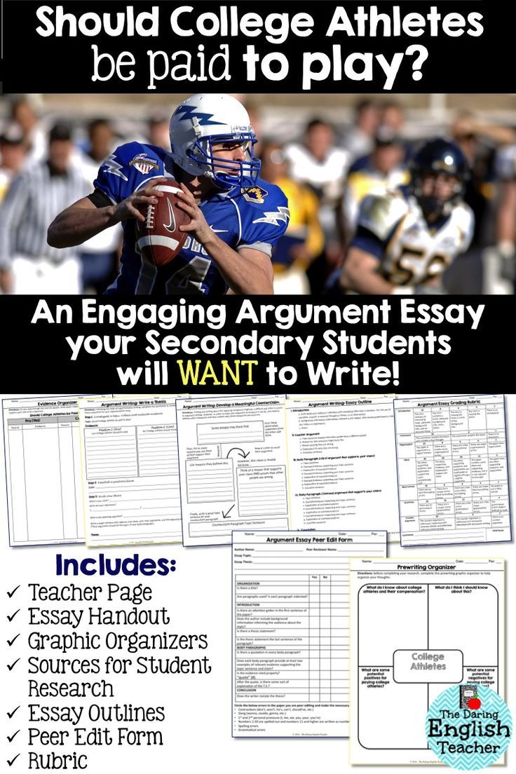 Argumentative essay paying college athletes