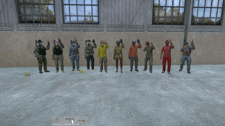 One of the teams in DayZ Standalone #dayzsa Ready for the GAMES!