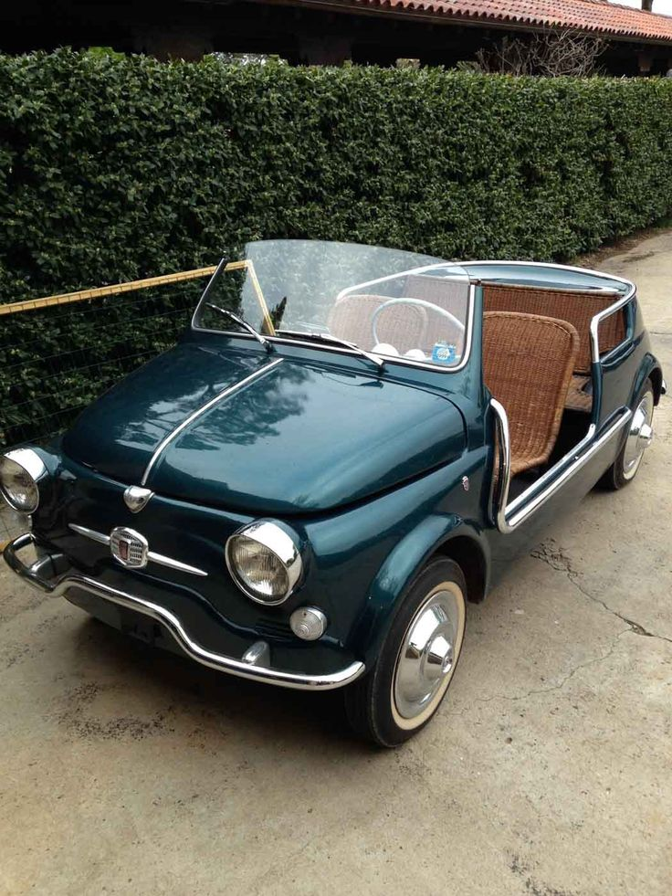 1958 Fiat 500 Jolly - this car is too cute - it may not be as fast as the rest of the pins on my board but I couldn't help myself.  #RePin by AT Social Media Marketing - Pinterest Marketing Specialists ATSocialMedia.co.uk