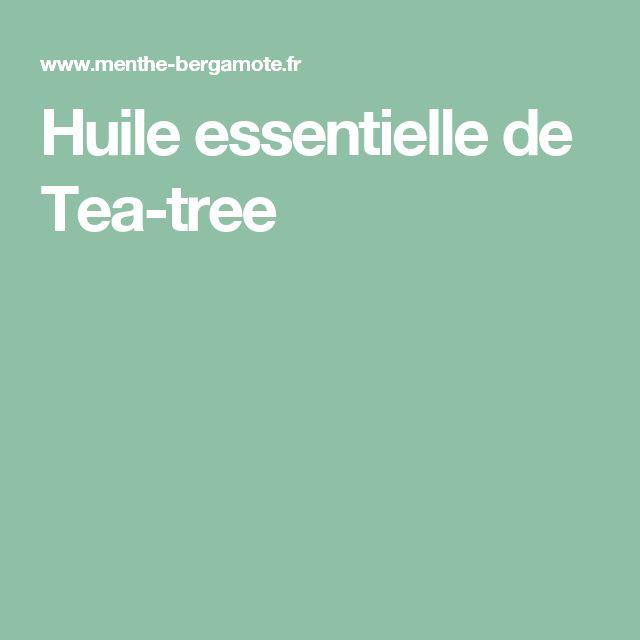 Huile essentielle de Tea-tree