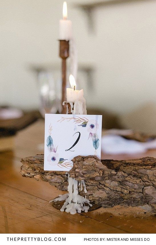 Floral inspired table number | Design by Letterlove Stationery | Photograph by Mister and Misses Do |