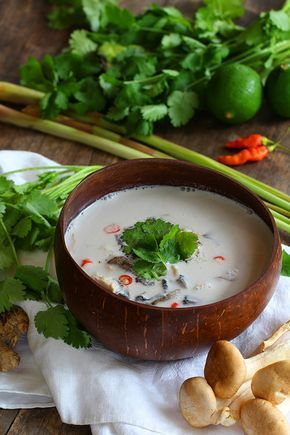 Authentic doesn't have to be hard. This easy, low carb & paleo Coconut Chicken Soup has just a few ingredients & is incredibly good for you! Sweet, creamy & delicious. It's naturally gluten free too!