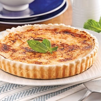 Tarte à la crème brûlée au parfum de Bailey's - Desserts - Recettes 5-15 - Recettes express 5/15 - Pratico Pratiques