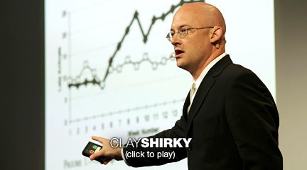 """Clay Shirky: How cognitive surplus will change the world  Clay Shirky looks at """"cognitive surplus"""" -- the shared, online work we do with our spare brain cycles. While we're busy editing Wikipedia, posting to Ushahidi (and yes, making LOLcats), we're building a better, more cooperative world."""
