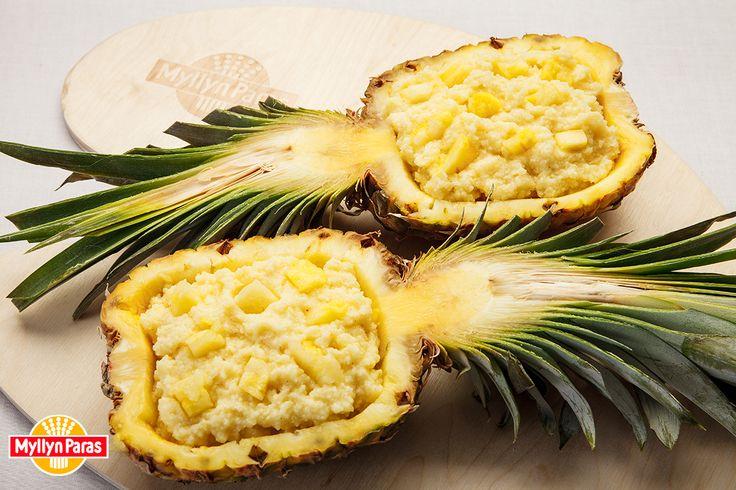 Пшенная каша в ананасе
