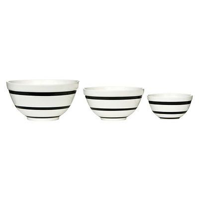 Set of 3 #black #stripe contemporary baking cooking #round mixing bowls,  View more on the LINK: http://www.zeppy.io/product/gb/2/162137148711/