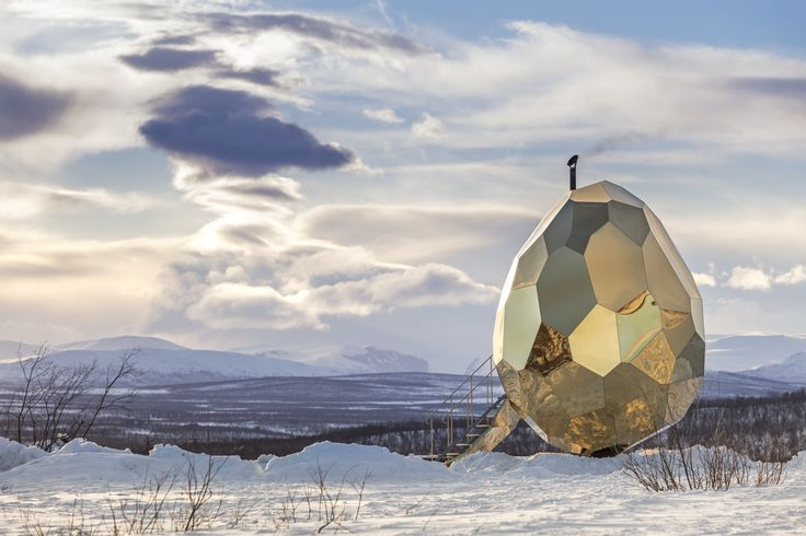 A Golden, Egg-Shaped Sauna Signifies the Rebirth of a Swedish Mining Town - Dwell