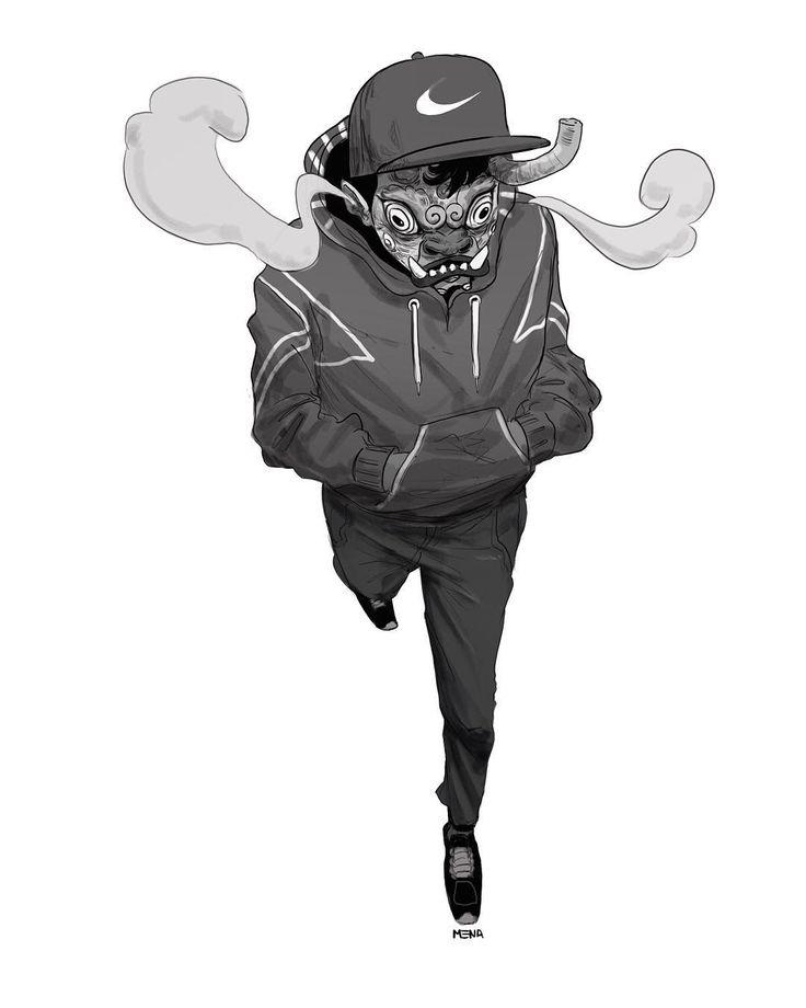 Demongueto. .  .  .  .  #illustration #sketch #mask #skt #s8 #art #boy #instaartist #digitalart #lemena #tribal #streetstyle