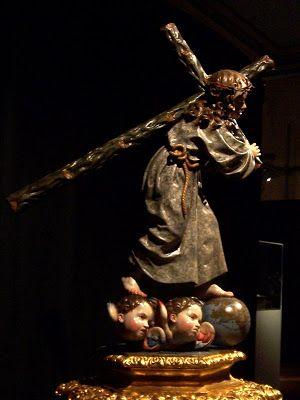 Ninó Jesús con la cruz a cuestas. La Roldana