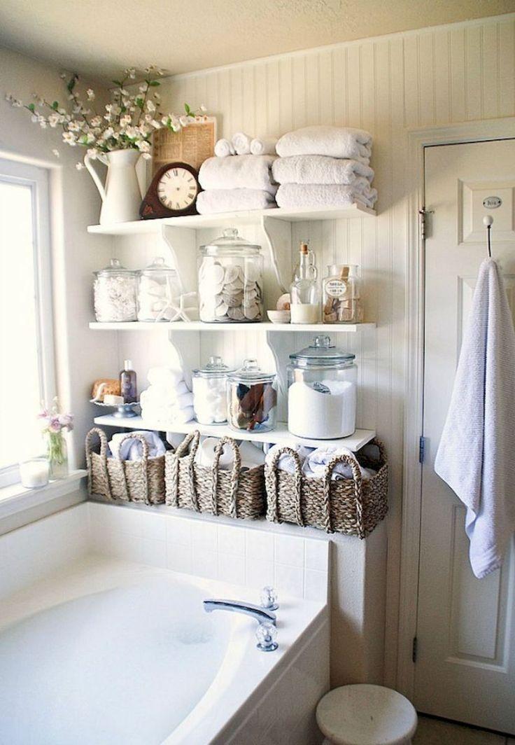 Vintage farmhouse bathroom remodel ideas on a budget (52) #shabbychicbedroomsonabudget