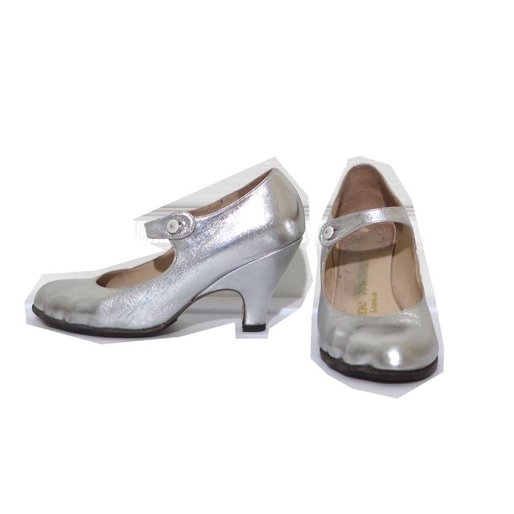 Vivienne Westwood Gold Label Mary Janes in Silver