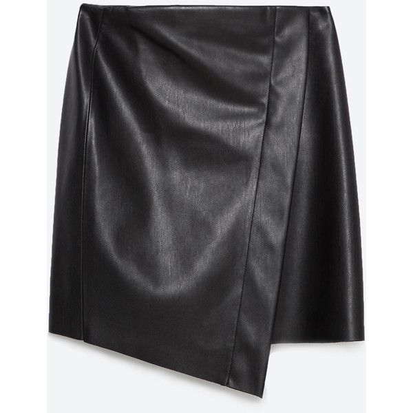 Zara Tube Skirt (723.050 IDR) ❤ liked on Polyvore featuring skirts, black, black skirt, black tube skirt, tube skirt and zara skirts