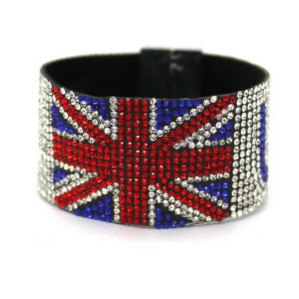 New 2017 American Flag Bracelet, Strong Magnetic Clasp! Pure Handmade Flag Design, Free Shipping!
