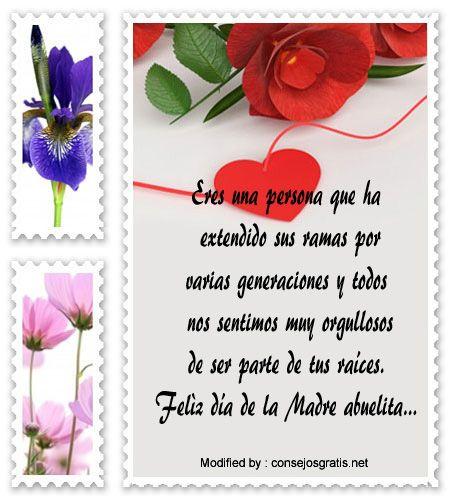 dia de la madre,pensamientos para el dia de la madre,descargar mensajes para el dia de la madre: http://www.consejosgratis.net/feliz-dia-de-la-madre-para-mi-abuelita/