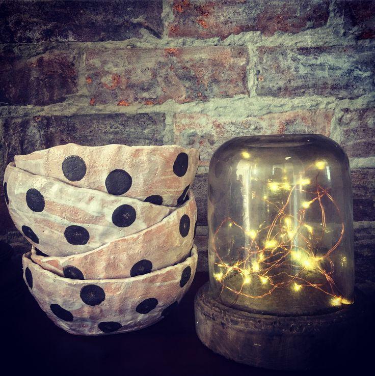 Spotty, Rustic Bowls !