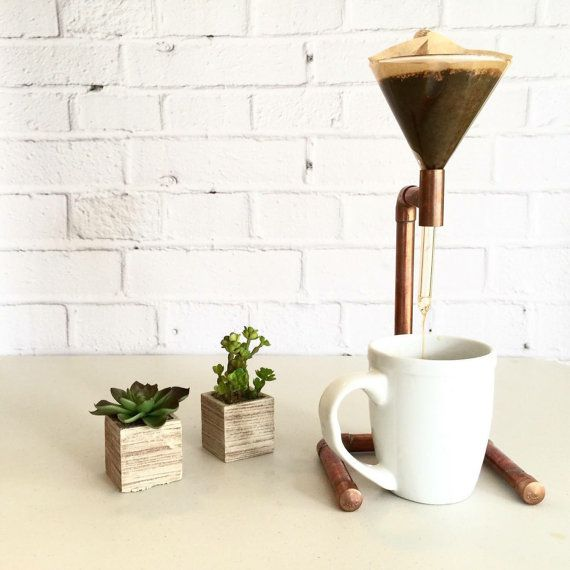 Pour Over Coffee Maker Coffee Dripper Copper Pipe by LIVVELL