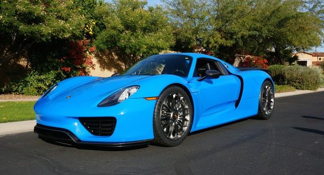 gallery voodoo blue porsche 918 spyder for sale 20. Black Bedroom Furniture Sets. Home Design Ideas