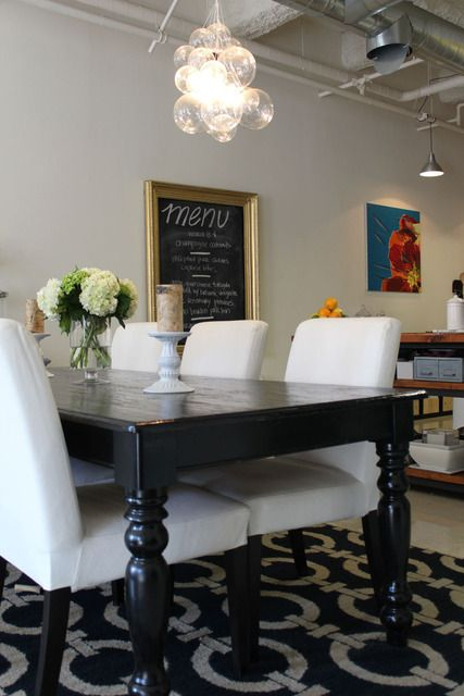 Best 20 black dining tables ideas on pinterest black for Large black dining room table