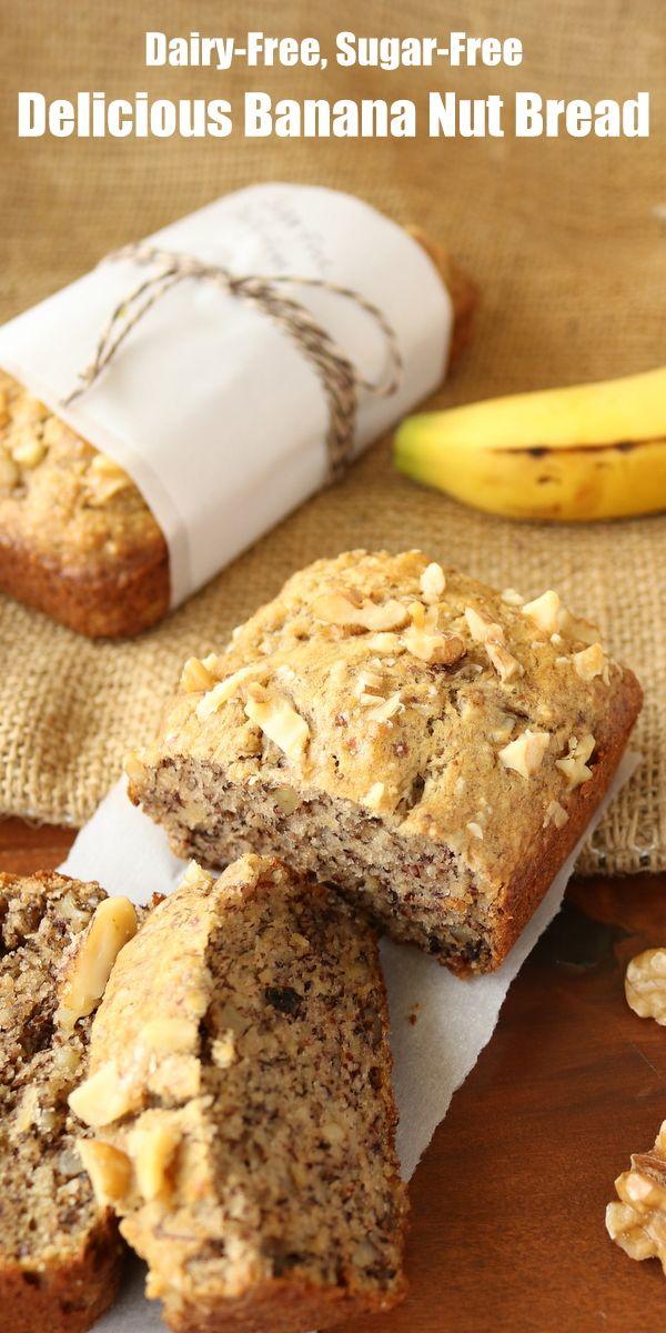 Healthy Banana Nut Bread Dairy Free No Sugar Added Low Carb