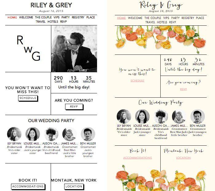 The 25+ best Wedding website examples ideas on Pinterest | Web ...