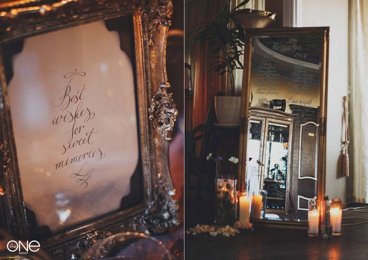 Свадебное оформление. Серебро, зеркало, свечи. Стильная свадьба Wedding decoration. Silver, mirror, candles. Stylish wedding