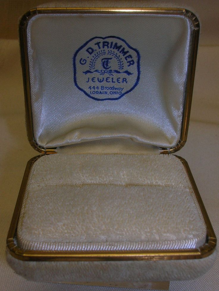 "G. D. Trimmer Jeweler Lorain Ohio Jewelry Ring Box ONLY2 1/4"" X 2"" #GDTrimmerJeweler"