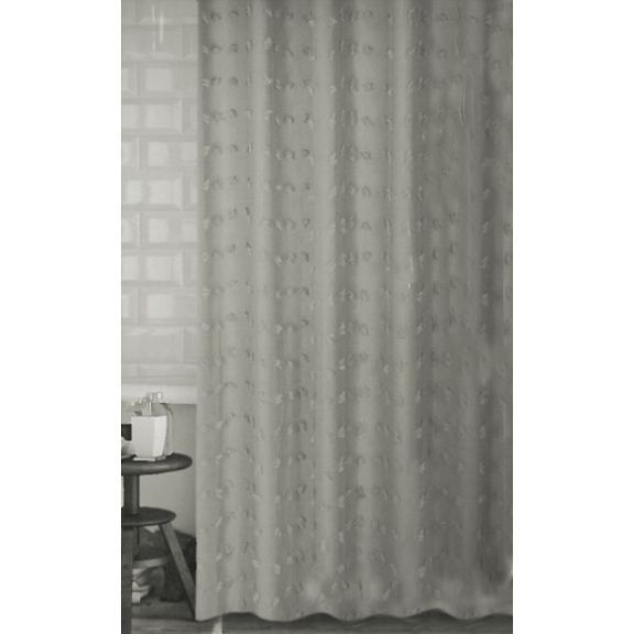 Eyelashes Tufted Gray Fabric Shower Curtain Fabric Shower