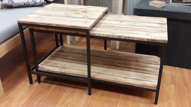 Ikea tafel met houten blad