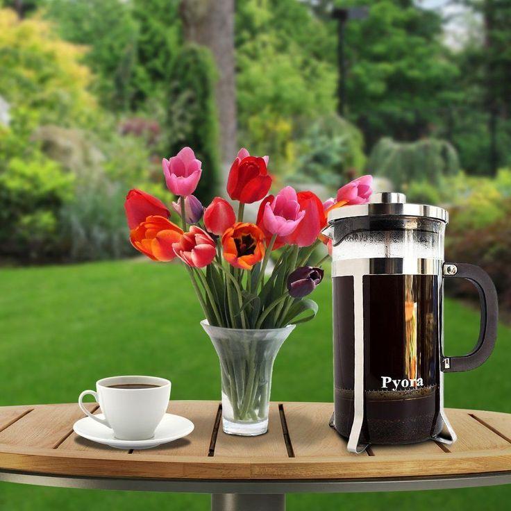 French Press Coffee & Tea Maker - 34oz 8 Cup - High Quality Sturdy Wedding Gift