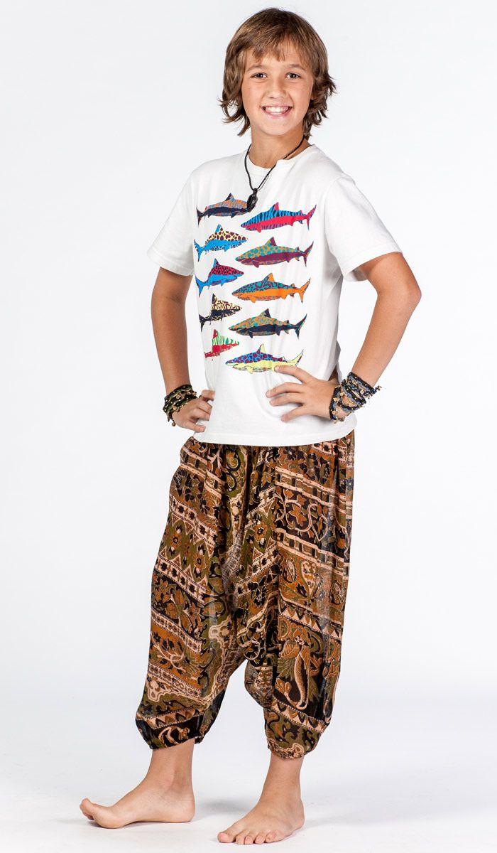 Детские шаровары для мальчика, алладины детские, индийская детская одежда, одежда для детей из Индии. Boy`s alladin pants. 760 рублей