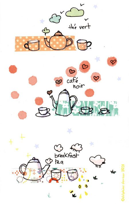 Le lapin dans la lune - Non dairy Diary - tea and coffee love washidoodles