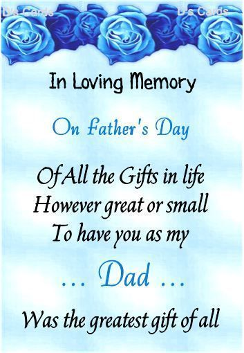 In loving memory/card/keepsake/Grave/dad/daddy/grandad ect fathers day