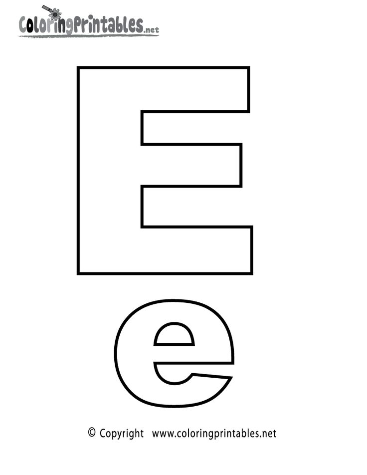 Alphabet Letter E Coloring Page - A Free English Coloring Printable