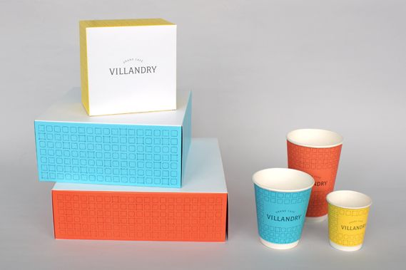 Mind Design's pretty perfect packaging designs for Villandry restaurant and bakery.