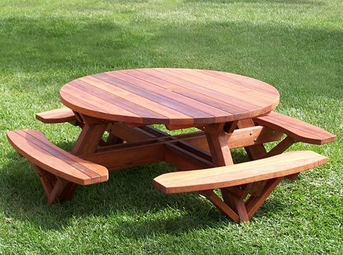 Image detail for -Round Wooden Picnic Table | Woodworking Project Plans