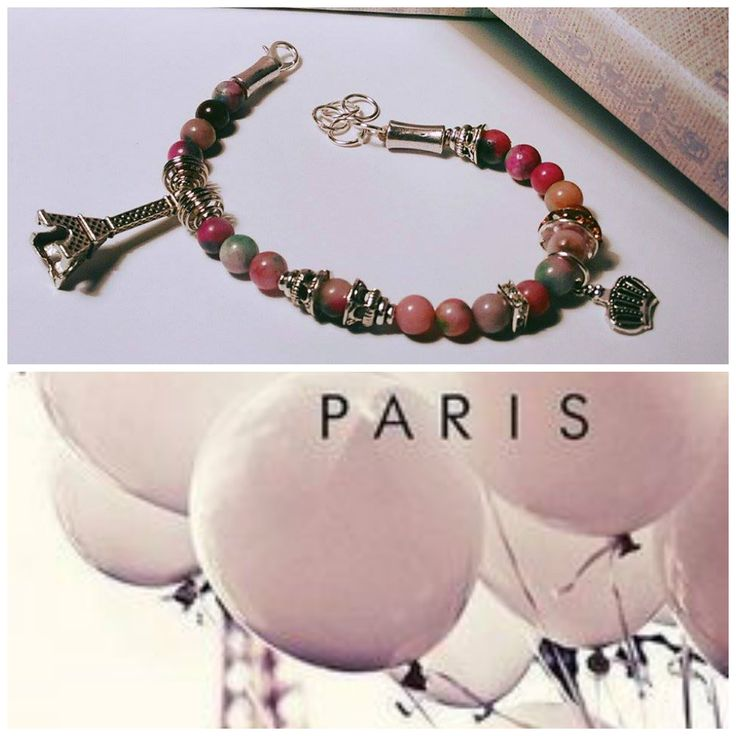Paris Bracelet Materials - Tibetan Silver, Agate, Swarovski crystals Paris Bracelet is a mix of royalty and boho style. The Swarovski crystals make a lovely team with the agate stones. More than th...