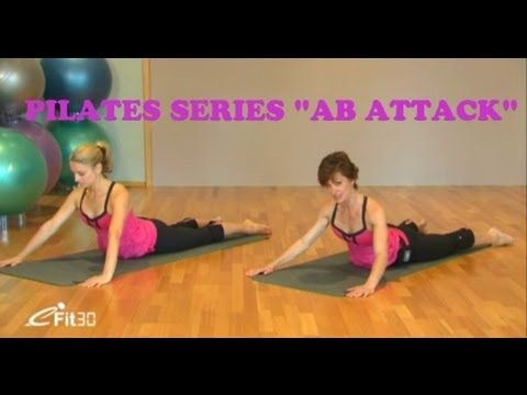 "Pilates 30 min, mage. Pilates series cut abs exercise ""AB Attack"" mat workout, FULL 30 minutes - YouTube"